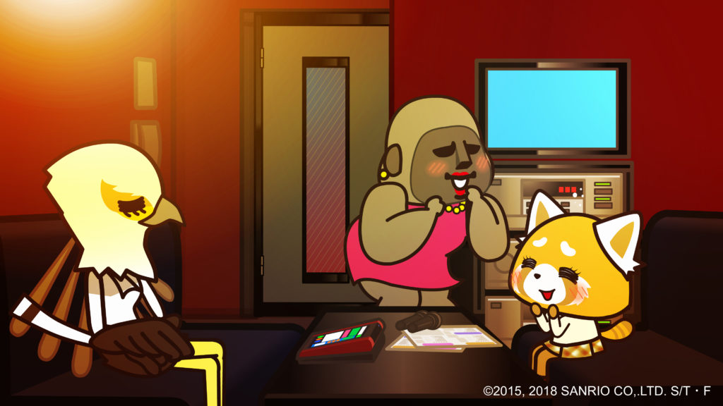 Aggretsuko with friends