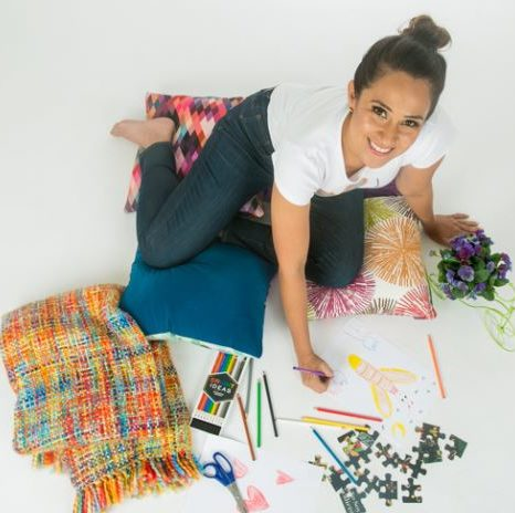 luz ortiz surrounded by illustration tools